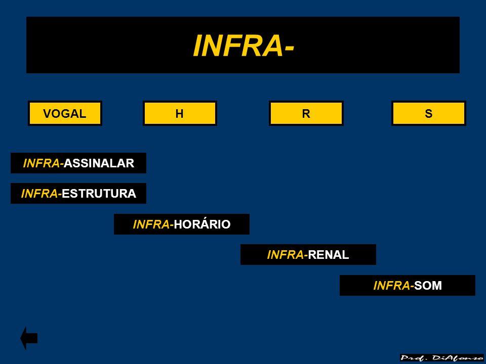INFRA- VOGAL VOGAL H H R R S S INFRA-ASSINALAR INFRA-ESTRUTURA