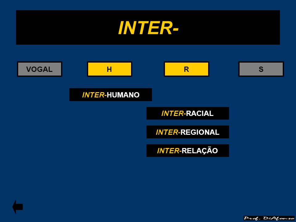 INTER- VOGAL H H R R S INTER-HUMANO INTER-RACIAL INTER-REGIONAL