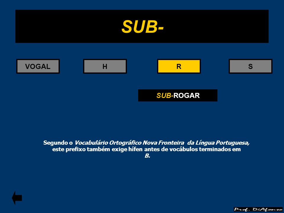 SUB- VOGAL H R R S SUB-ROGAR