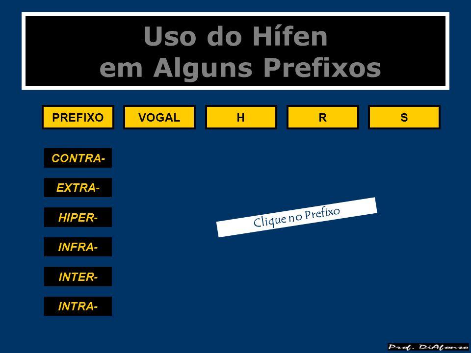 Uso do Hífen em Alguns Prefixos