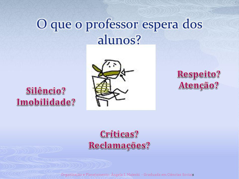 O que o professor espera dos alunos
