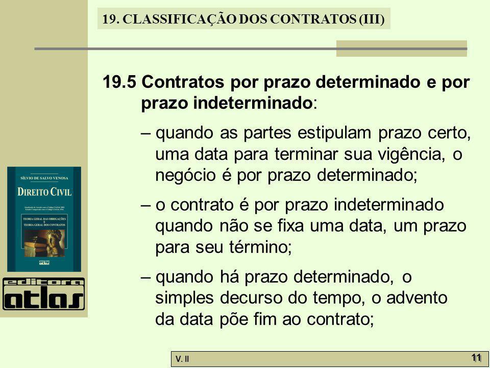 19.5 Contratos por prazo determinado e por prazo indeterminado: