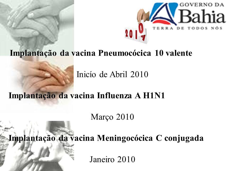 Implantação da vacina Pneumocócica 10 valente