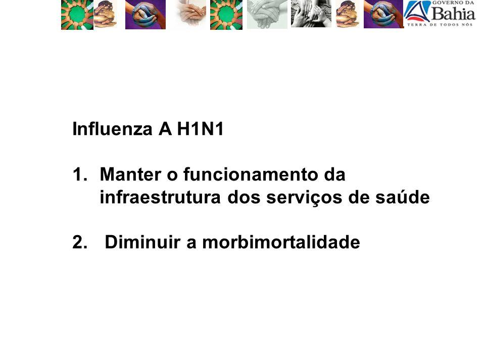 Influenza A H1N1 Manter o funcionamento da infraestrutura dos serviços de saúde.