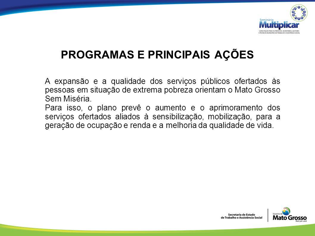 PROGRAMAS E PRINCIPAIS AÇÕES