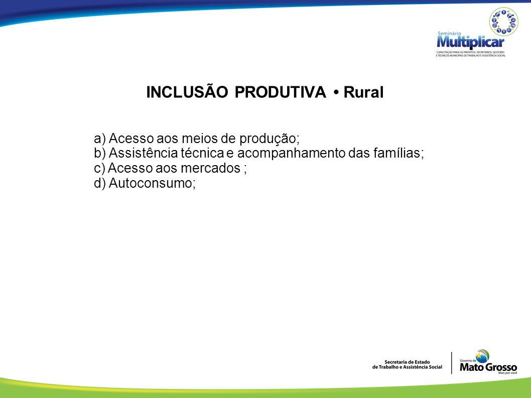INCLUSÃO PRODUTIVA • Rural