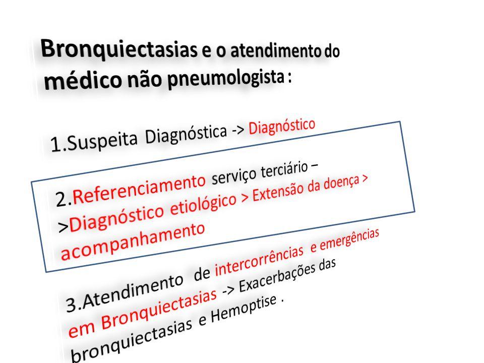 Bronquiectasias e o atendimento do médico não pneumologista :