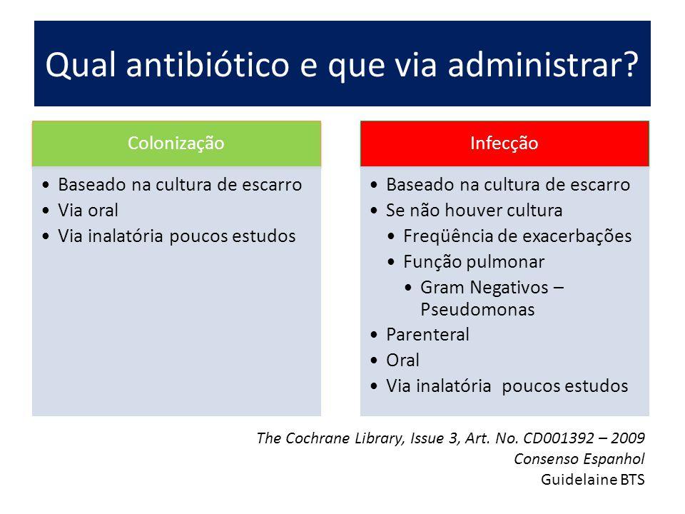 Qual antibiótico e que via administrar