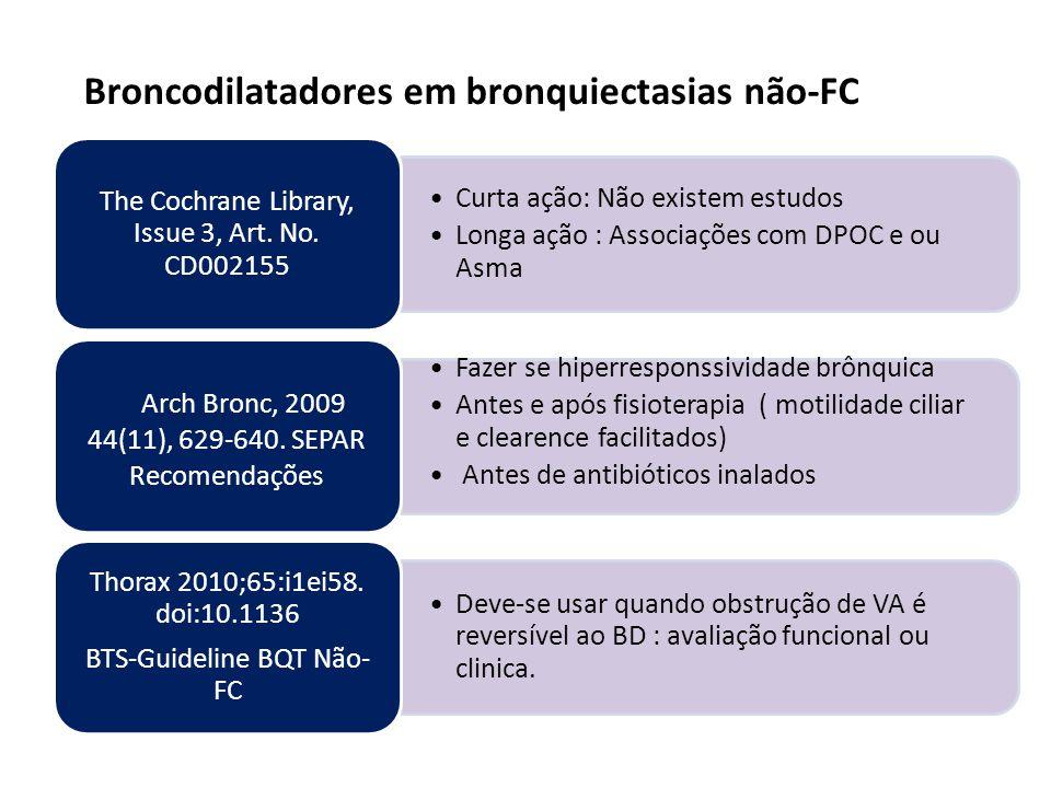 Broncodilatadores em bronquiectasias não-FC