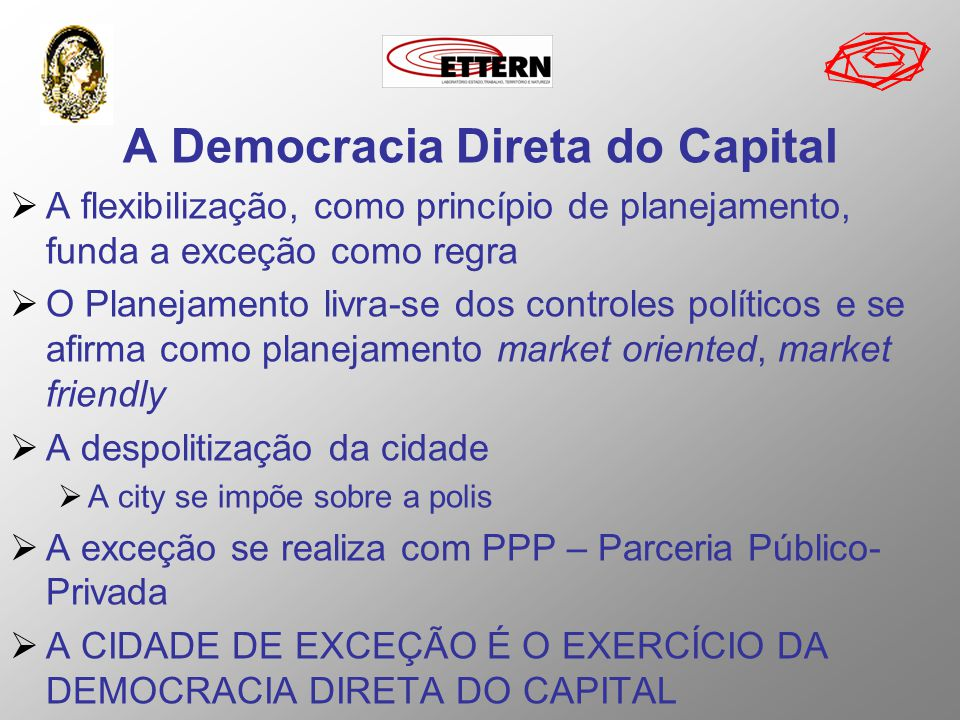 A Democracia Direta do Capital
