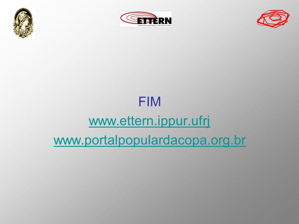 FIM www.ettern.ippur.ufrj www.portalpopulardacopa.org.br