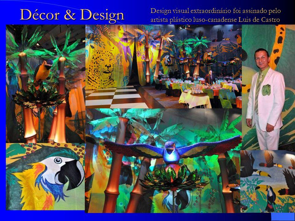 Design visual extraordinário foi assinado pelo artista plástico luso-canadense Luis de Castro