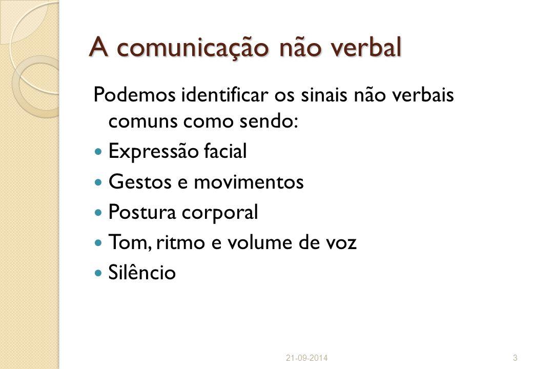 A comunicação não verbal