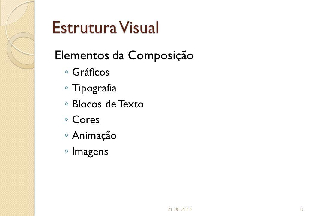 Estrutura Visual Elementos da Composição Gráficos Tipografia