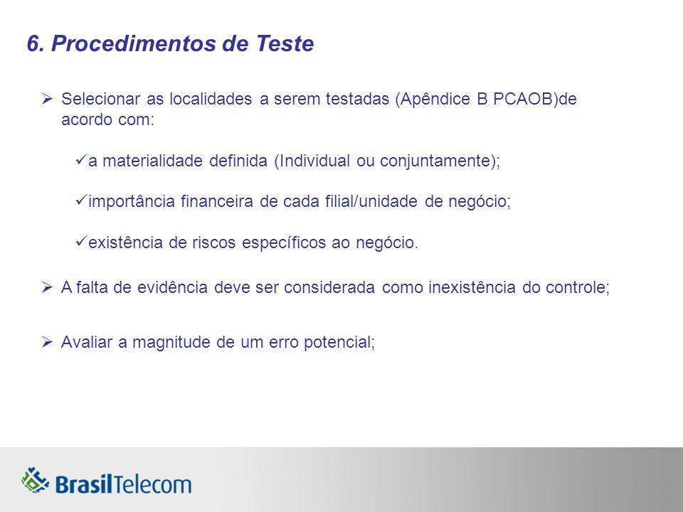 6. Procedimentos de Teste