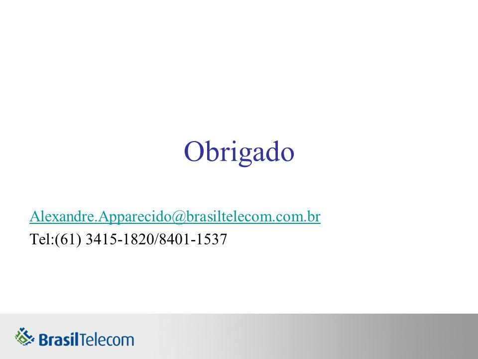 Alexandre.Apparecido@brasiltelecom.com.br Tel:(61) 3415-1820/8401-1537