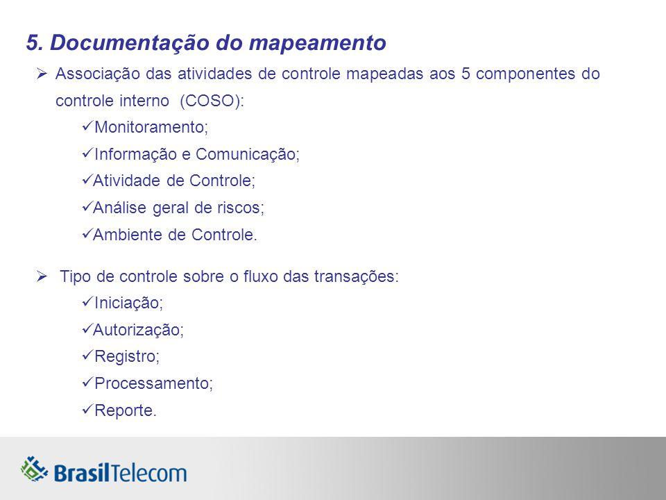 5. Documentação do mapeamento