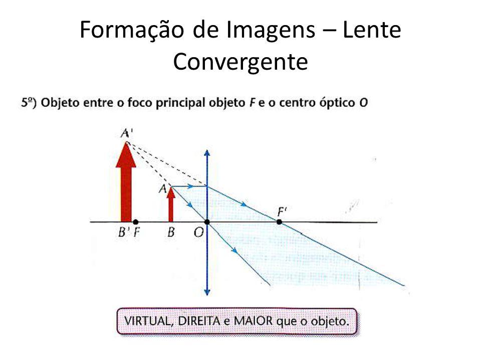 Formação de Imagens – Lente Convergente