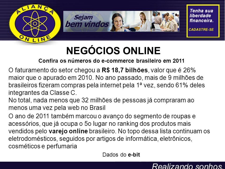 NEGÓCIOS ONLINE Confira os números do e-commerce brasileiro em 2011.