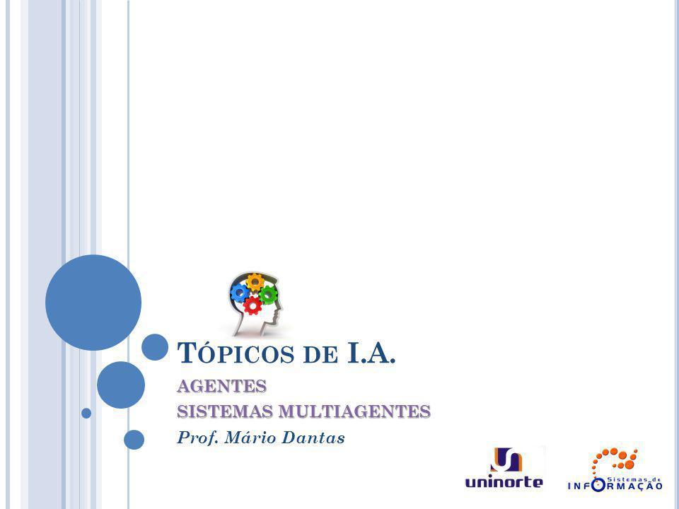AGENTES SISTEMAS MULTIAGENTES Prof. Mário Dantas