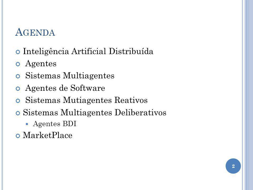 Agenda Inteligência Artificial Distribuída Agentes