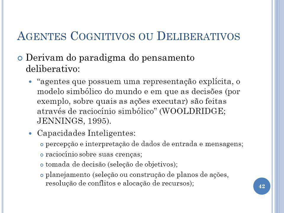 Agentes Cognitivos ou Deliberativos