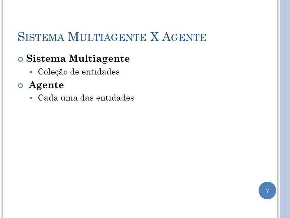 Sistema Multiagente X Agente
