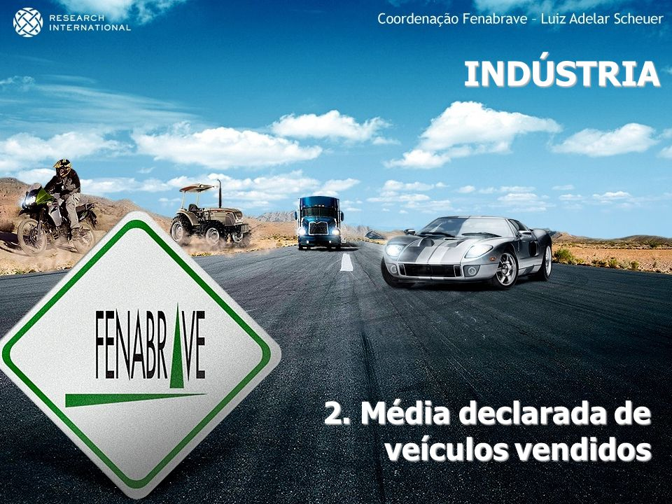 2. Média declarada de veículos vendidos
