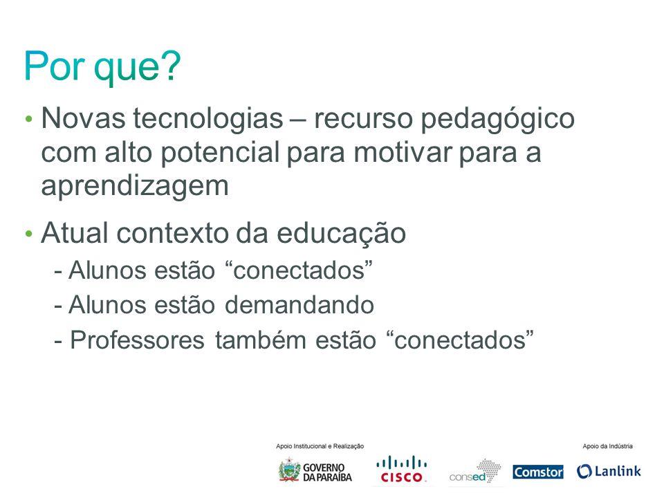 Por que Novas tecnologias – recurso pedagógico com alto potencial para motivar para a aprendizagem.