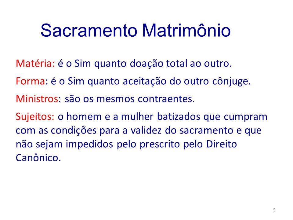 Sacramento Matrimônio