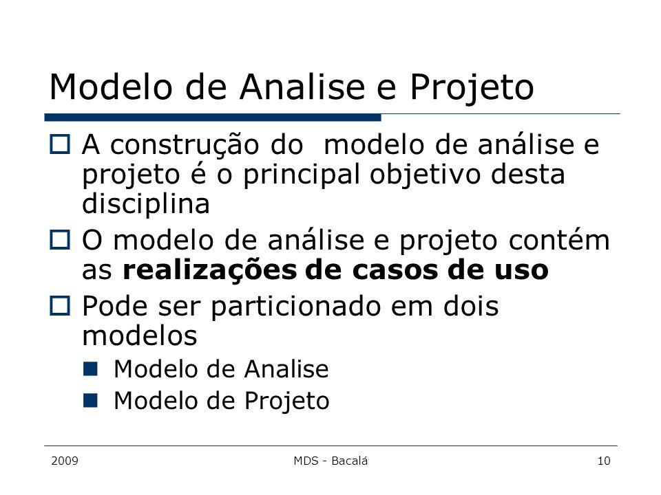 Modelo de Analise e Projeto