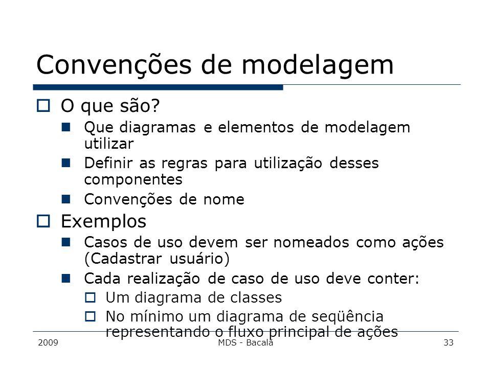 Convenções de modelagem