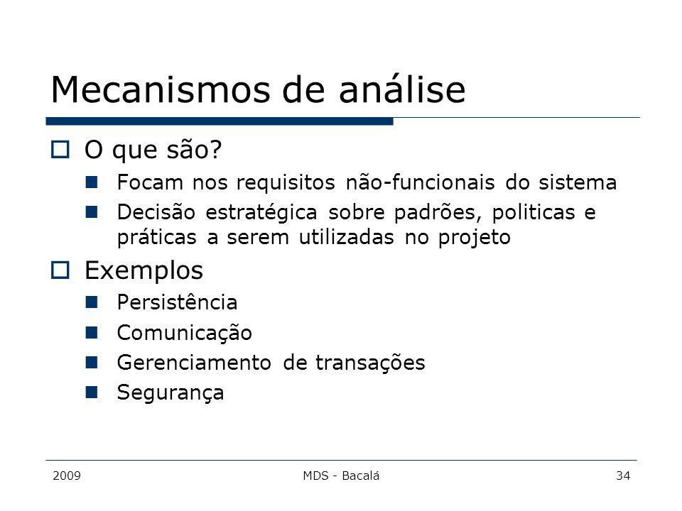 Mecanismos de análise O que são Exemplos
