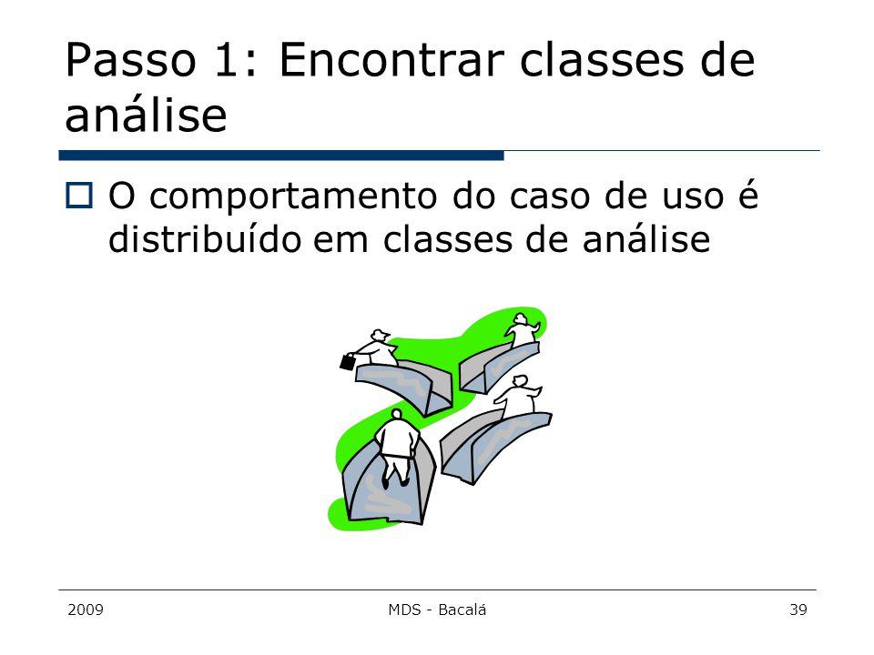Passo 1: Encontrar classes de análise