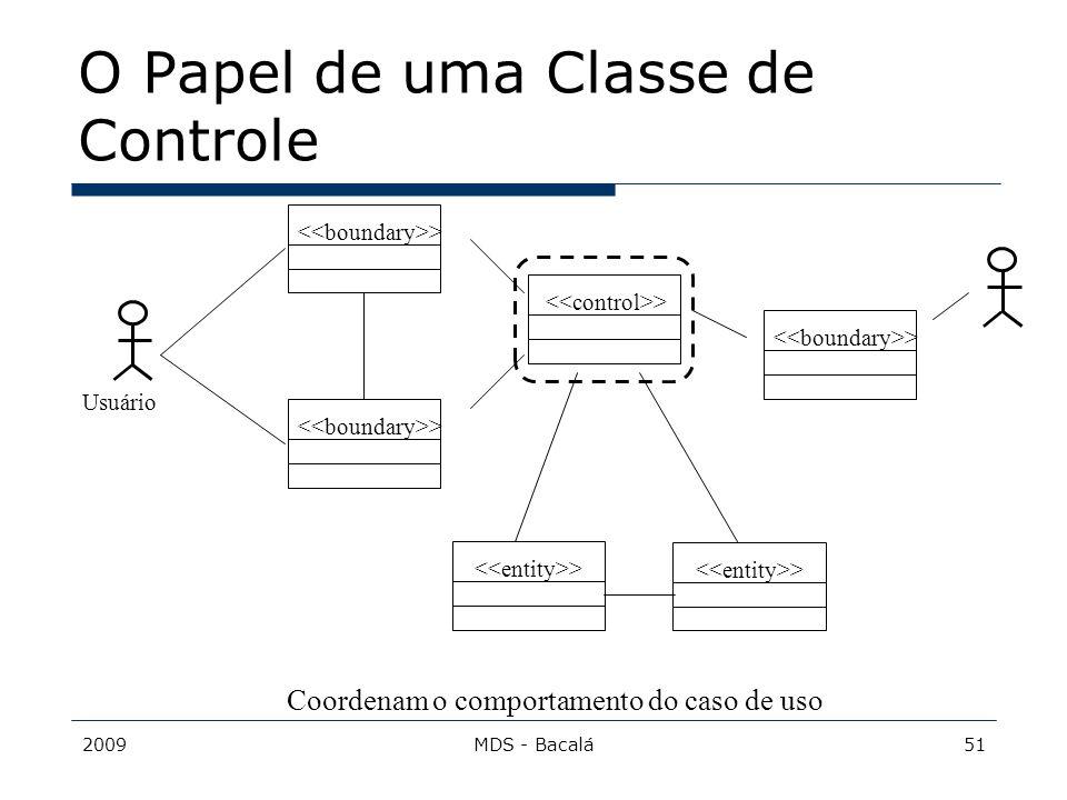 O Papel de uma Classe de Controle
