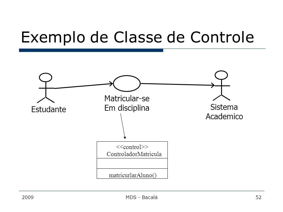 Exemplo de Classe de Controle