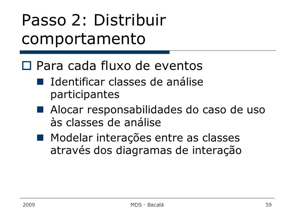 Passo 2: Distribuir comportamento