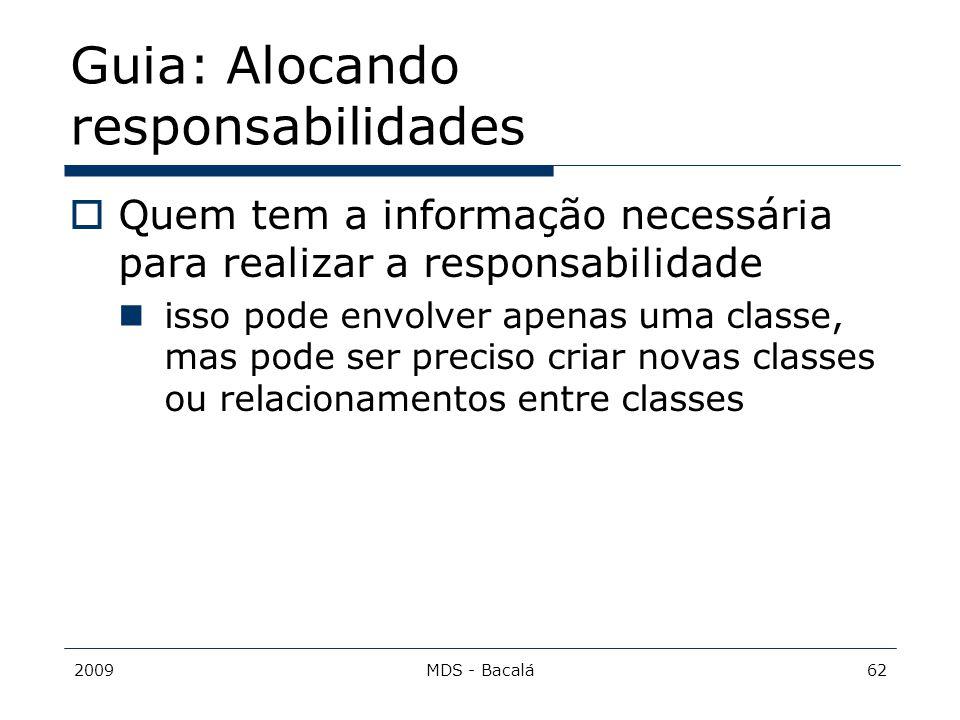 Guia: Alocando responsabilidades