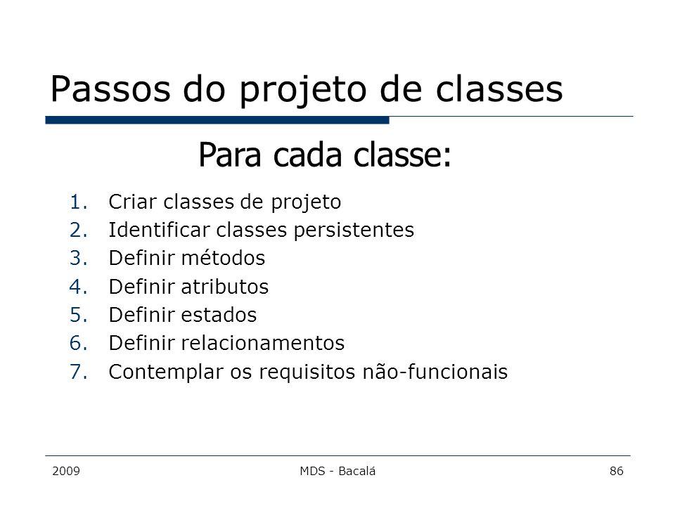Passos do projeto de classes