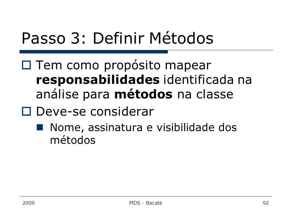 Passo 3: Definir Métodos