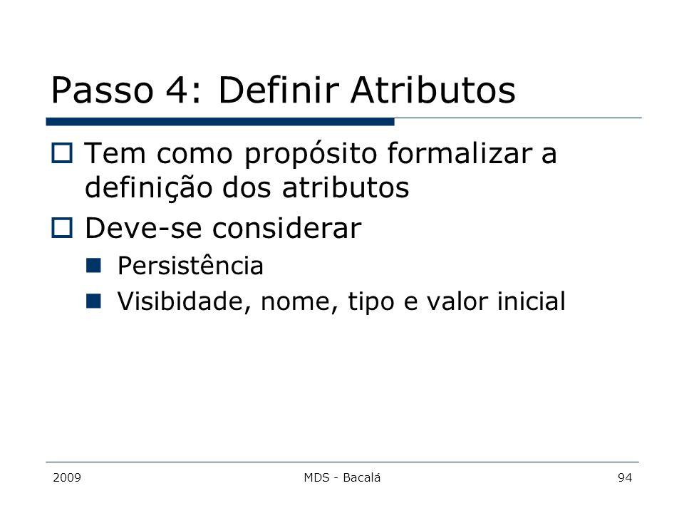 Passo 4: Definir Atributos