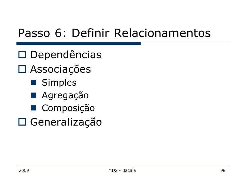 Passo 6: Definir Relacionamentos