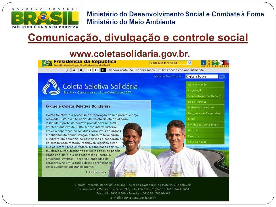 Comunicação, divulgação e controle social