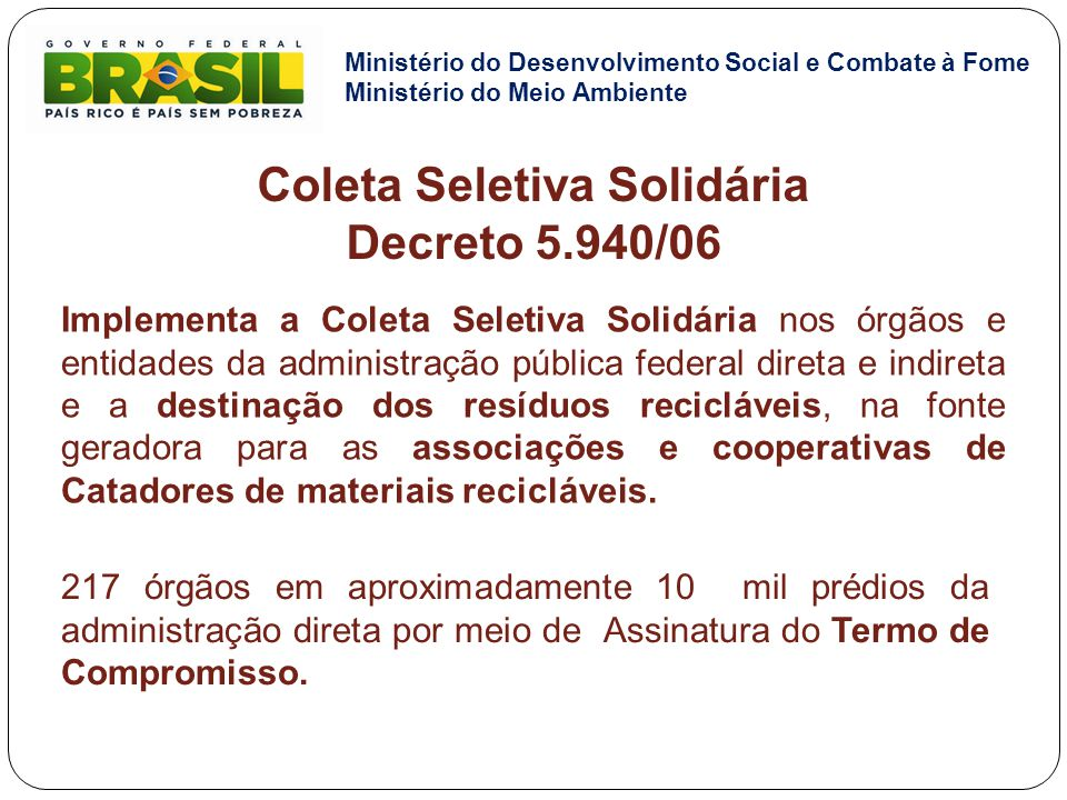 Coleta Seletiva Solidária