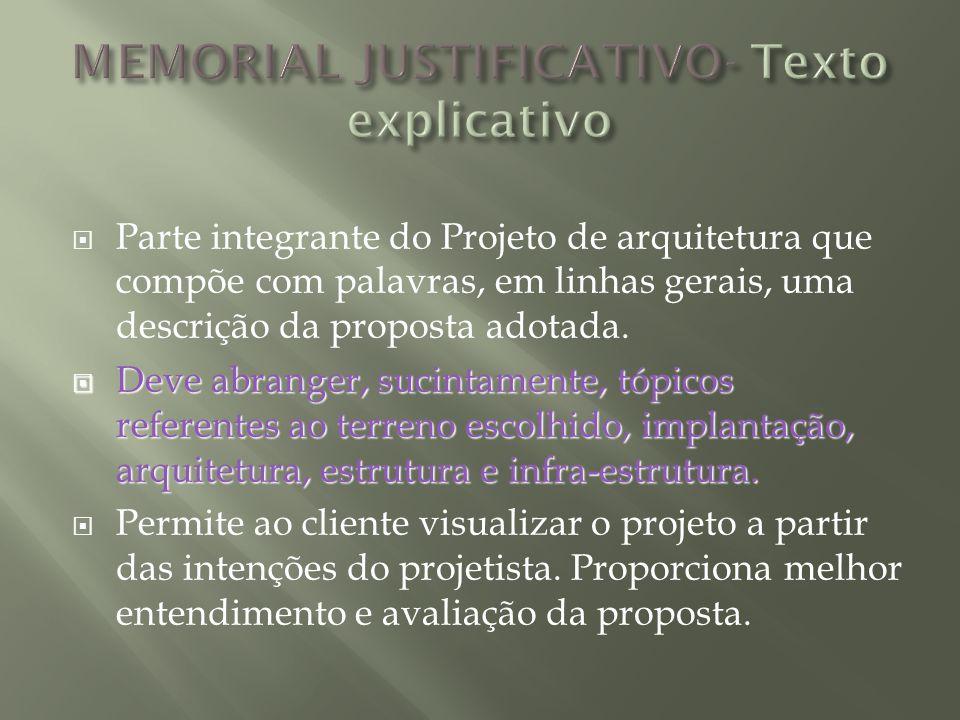 MEMORIAL JUSTIFICATIVO- Texto explicativo