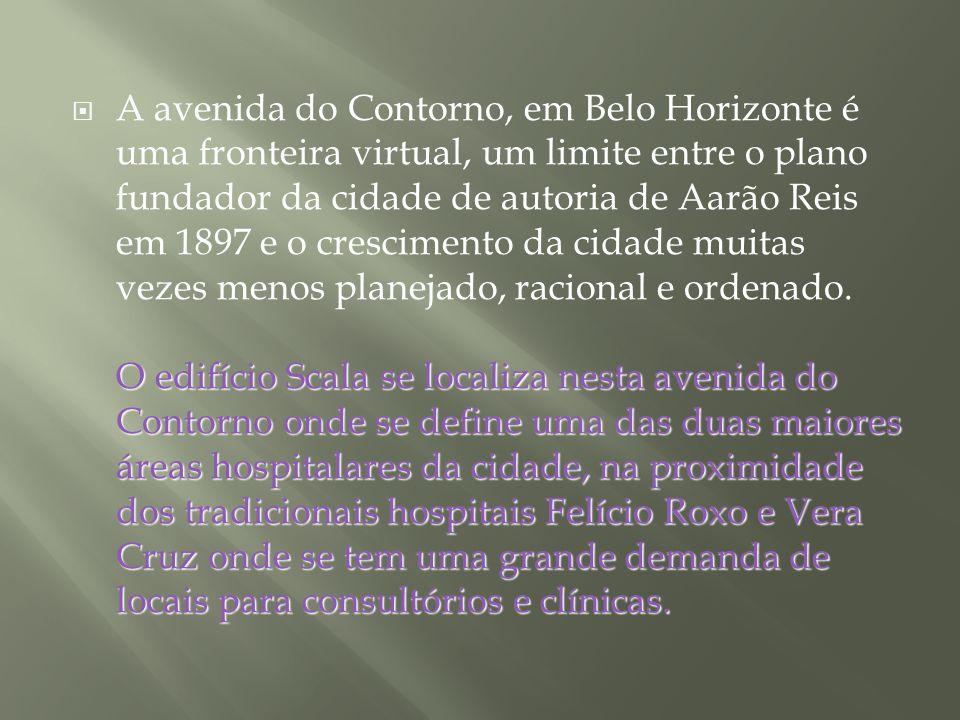 A avenida do Contorno, em Belo Horizonte é uma fronteira virtual, um limite entre o plano fundador da cidade de autoria de Aarão Reis em 1897 e o crescimento da cidade muitas vezes menos planejado, racional e ordenado.