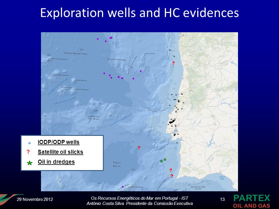 Exploration wells and HC evidences