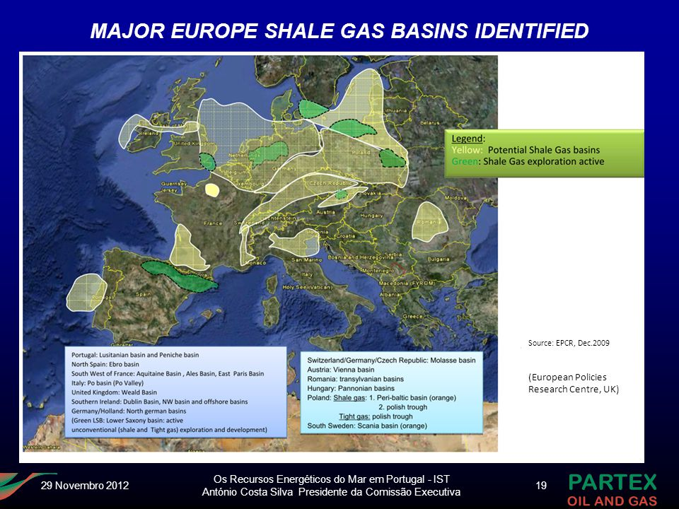 MAJOR EUROPE SHALE GAS BASINS IDENTIFIED