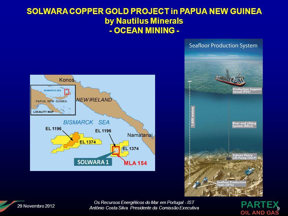 SOLWARA COPPER GOLD PROJECT in PAPUA NEW GUINEA