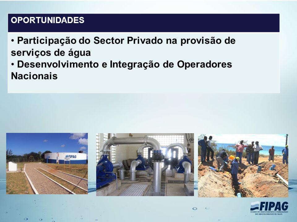 Participação do Sector Privado na provisão de serviços de água